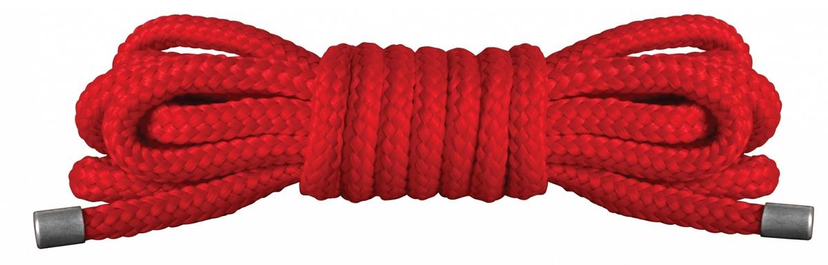 Красная нейлоновая верёвка для бандажа Japanese Mini - 1,5 м. - фото 200649