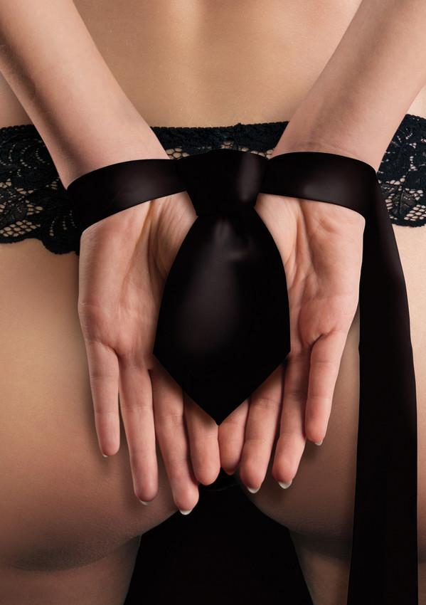 Чёрная лента-галстук для бандажа Tie Me Up