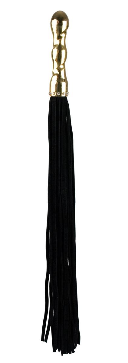 Коричневая плетка Luxury Whip 18k-Silver plated с покрытой серебром рукоятью  - фото 135543