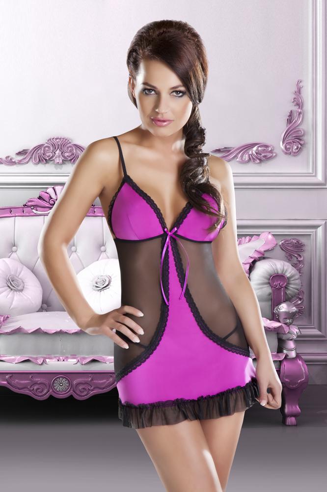 Красивая сорочка Cheryl с полупрозрачными вставками - фото 243505