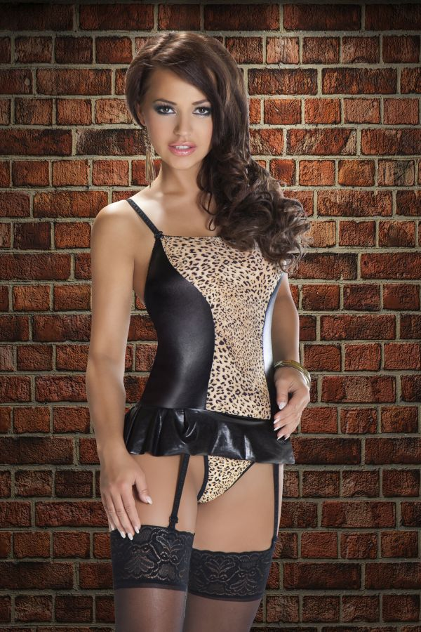 Корсаж с леопардовым принтом Leo  - фото 243527