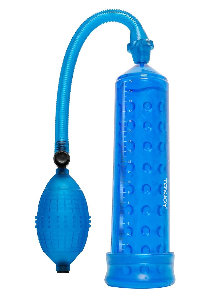 Синяя вакуумная помпа POWER MASSAGE PUMP - фото 452663