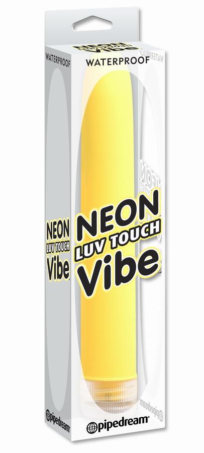 Желтый водонепроницаемый вибратор Neon Luv Touch Vibe - 17 см. - фото 135863