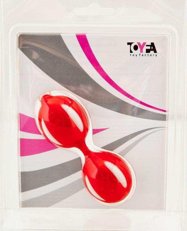 Красные вагинальные шарики на гибкой сцепке - фото 316060