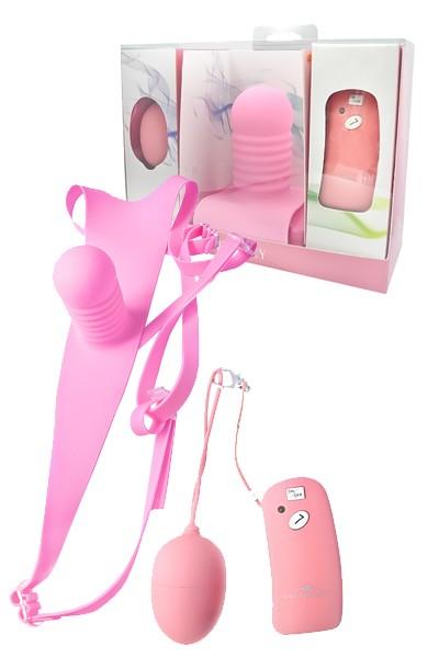 Розовые трусики с вибрацией Vibe Therapy Intimacy - фото 183988