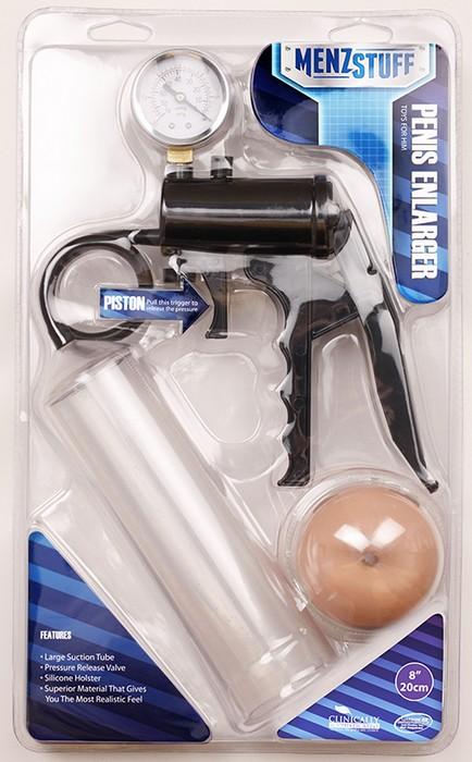 Прозрачная помпа MENZSTUFF PENIS ENLARGER - 20,3 см.  - фото 218043