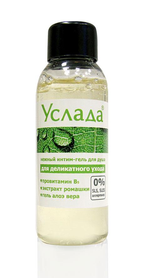 Интим-гель для душа  Услада - нежный уход  - 50 гр.