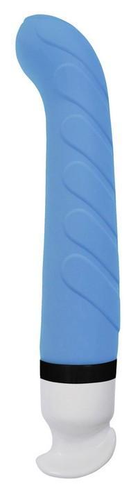 Голубой вибратор Poseidon Nautica с 6 режимами вибрации - 17,8 см.