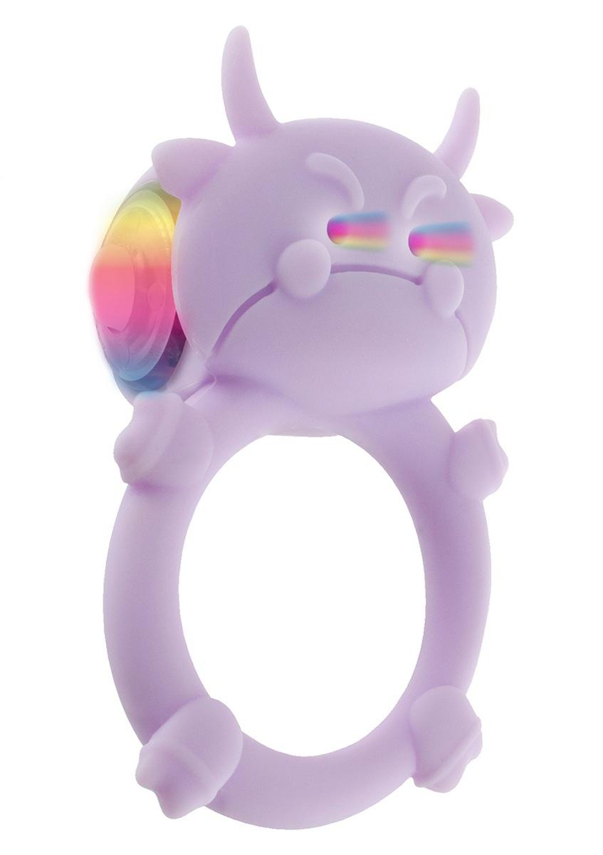 Сиреневое кольцо на пенис с вибрацией RAGING BULL C-RING - фото 316195