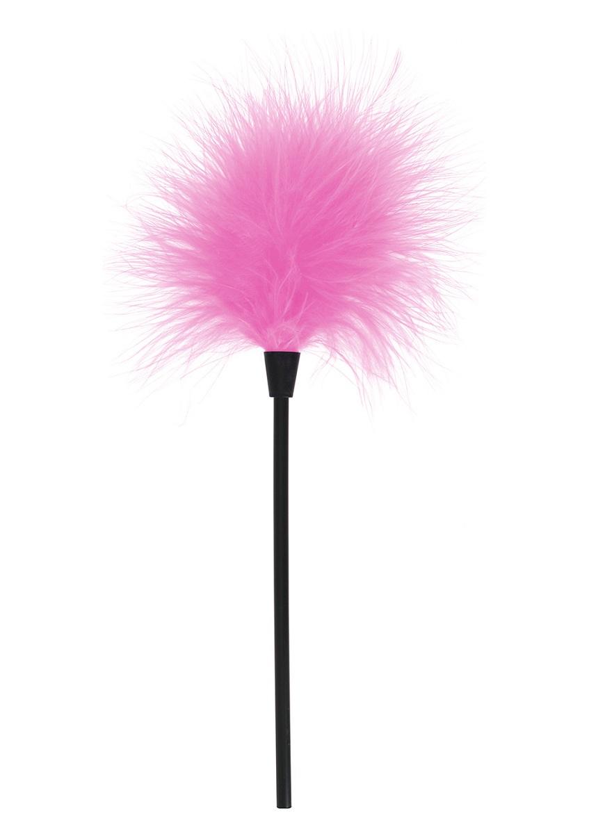 Кисточка для игр с розовыми перышками SEXY FEATHER TICKLER - фото 243819