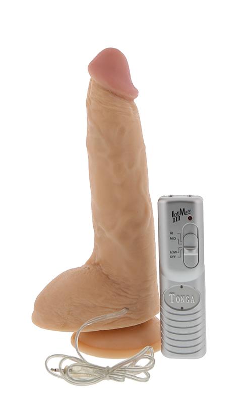 Реалистичный вибратор на присоске - 22,8 см.