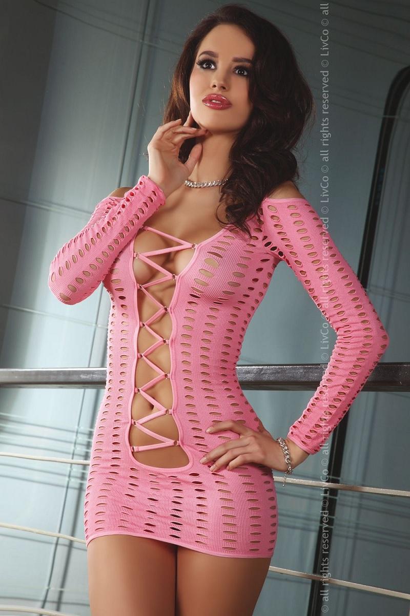 Чувственное платье-сетка Cantara с длинными рукавами - фото 244267