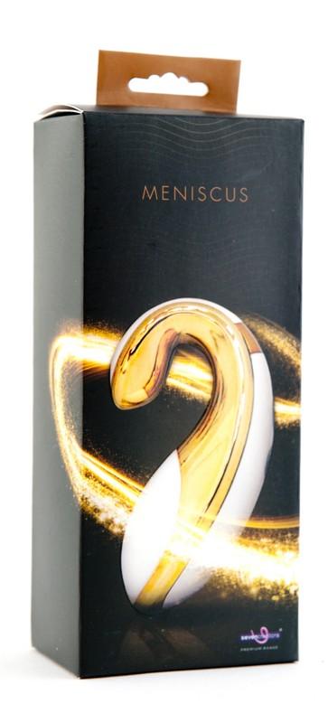 Золотистый клиторальный стимулятор Meniscus - фото 137108