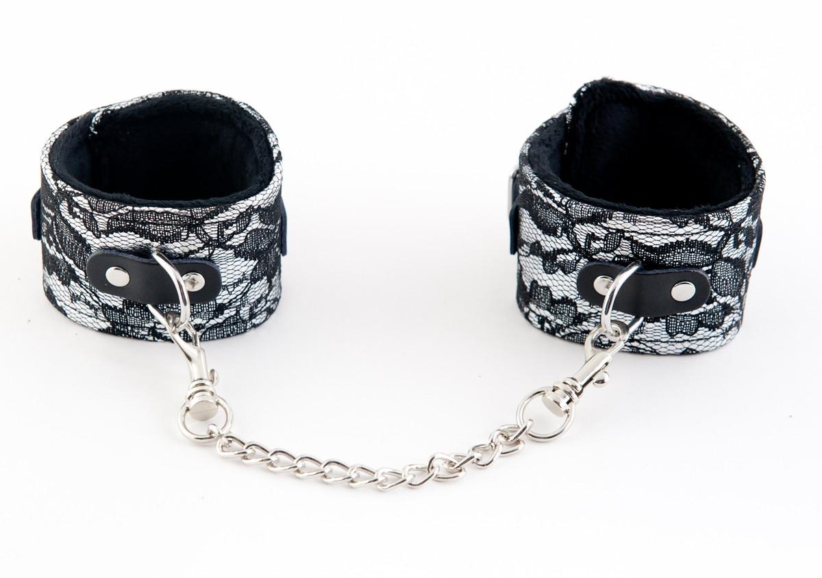 Серебристые кружевные поножи  - фото 12936