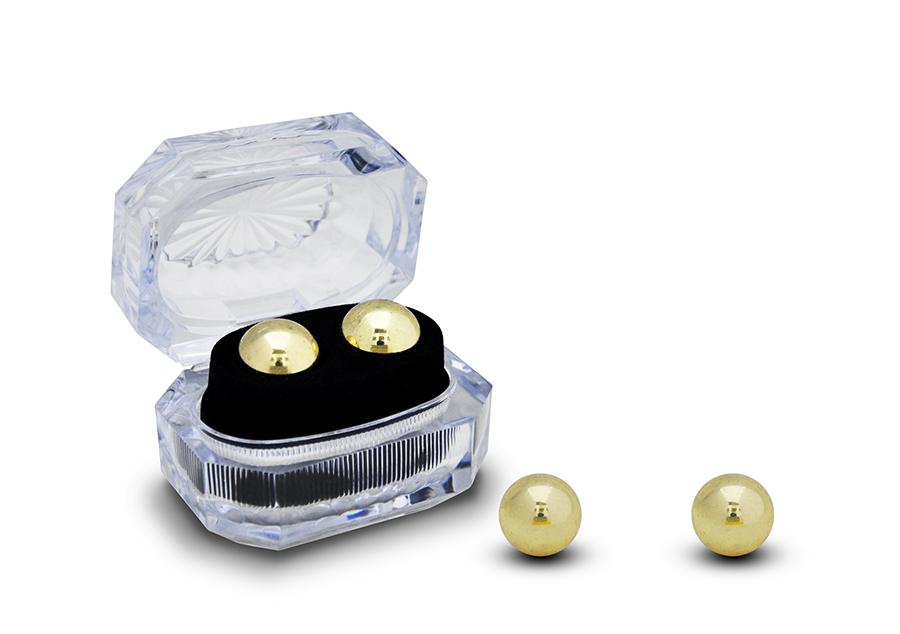 Золотистые вагинальные шарики BEN WA - фото 137681