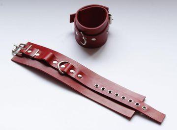 Красные не подшитые наножники со сварным D-кольцом  - фото 529843