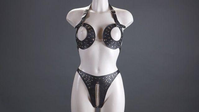 Женский комплект с открытой грудью - фото 454671