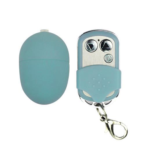 Голубое виброяйцо с дистанционным управлением - фото 316826