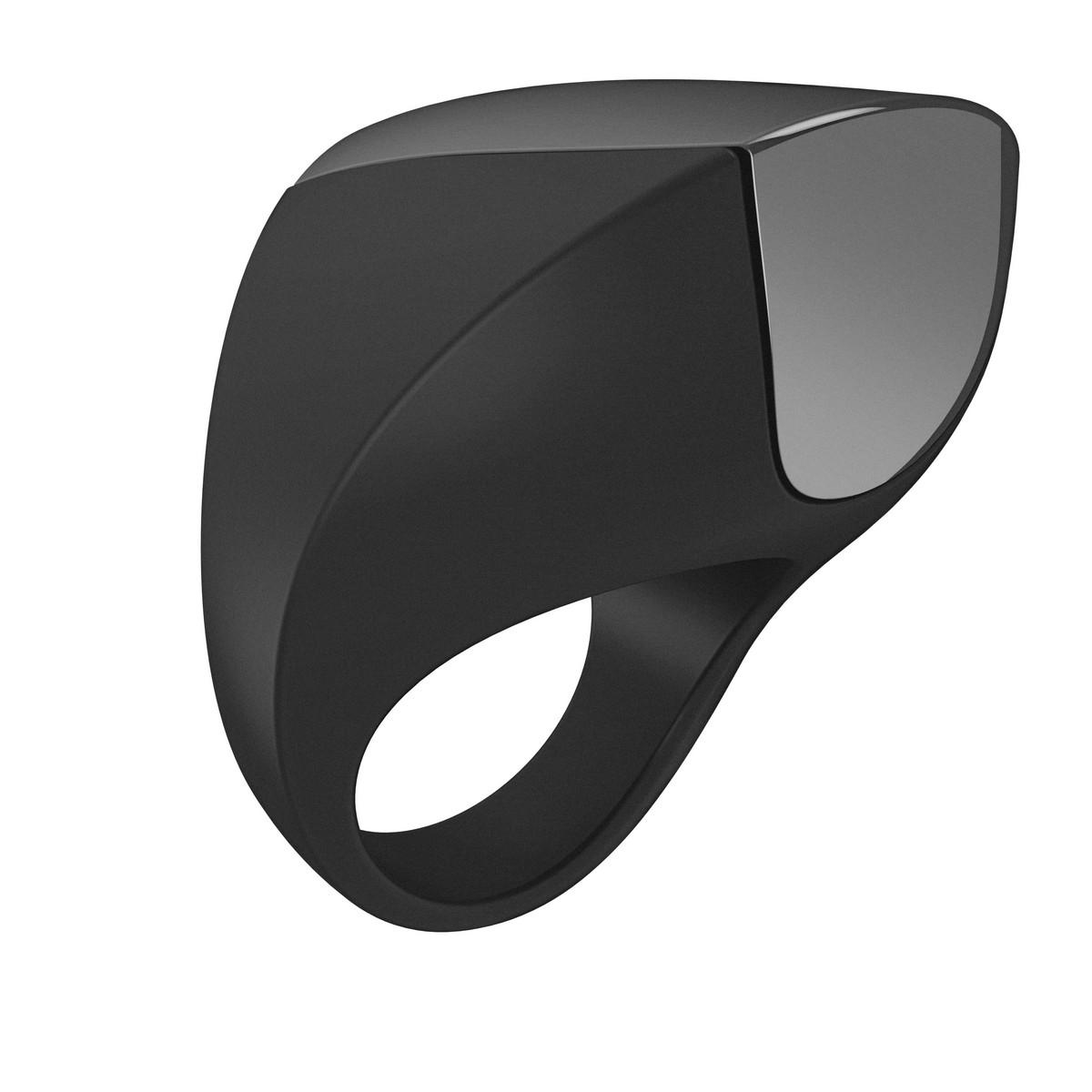 Черное перезаряжаемое эрекционное кольцо - фото 716628