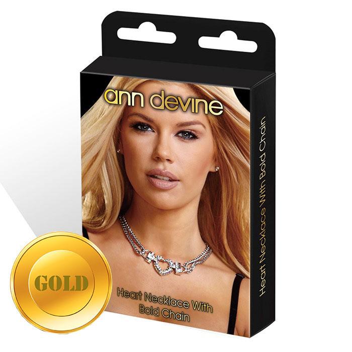 Колье с подвеской Heart Necklace With Bold Chain - фото 530174