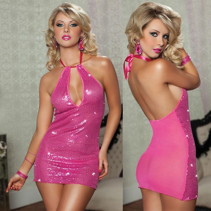 Сверкающее платье с пайетками