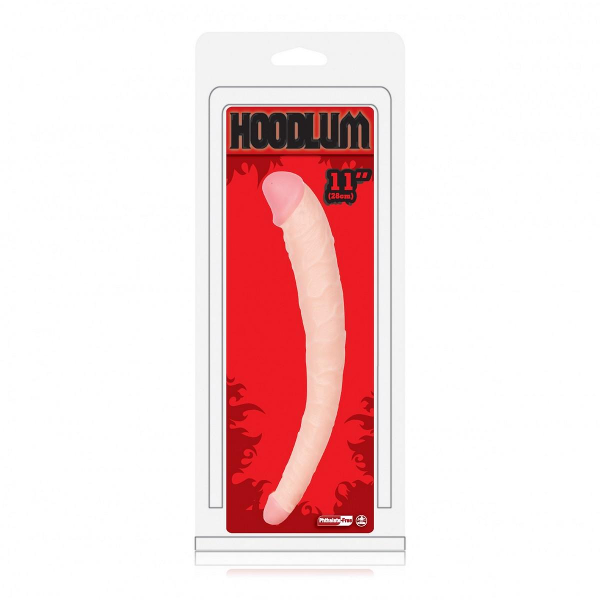 Двусторонний фаллоимитатор Hoodlum - 28 см. - фото 245112