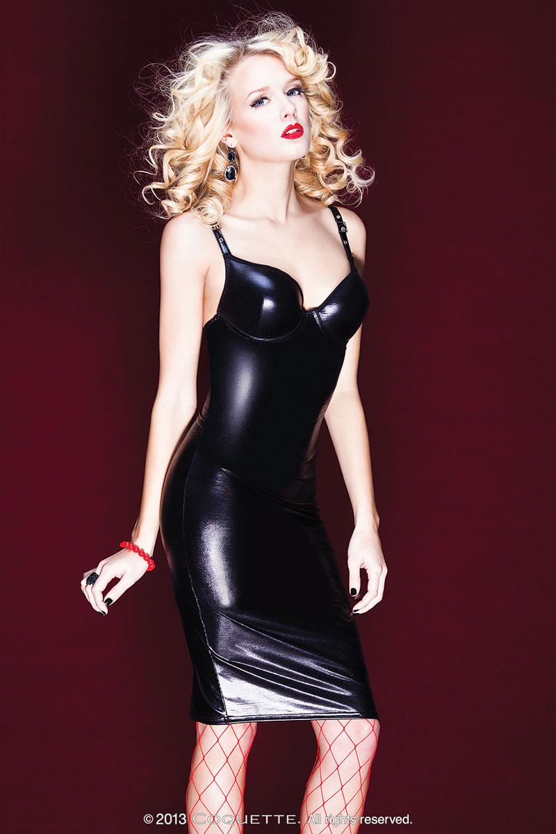 Облегающее платье со шнуровкой на спине - фото 317278
