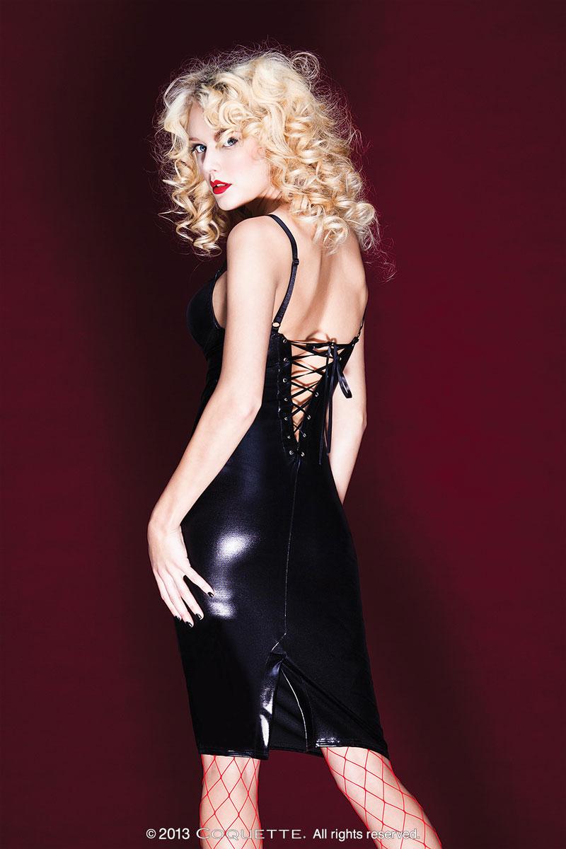 Облегающее платье со шнуровкой на спине - фото 317280