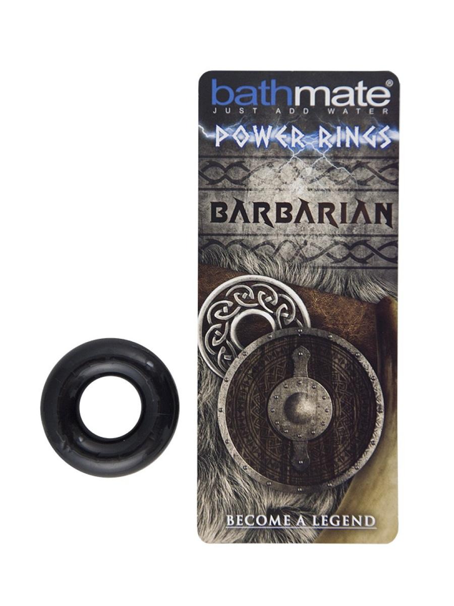 Чёрное эрекционное кольцо Barbarian