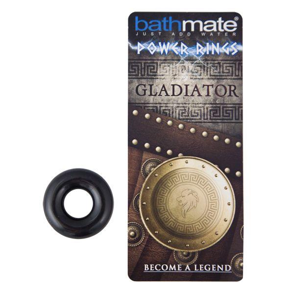 Чёрное эрекционное кольцо Gladiator - фото 138844