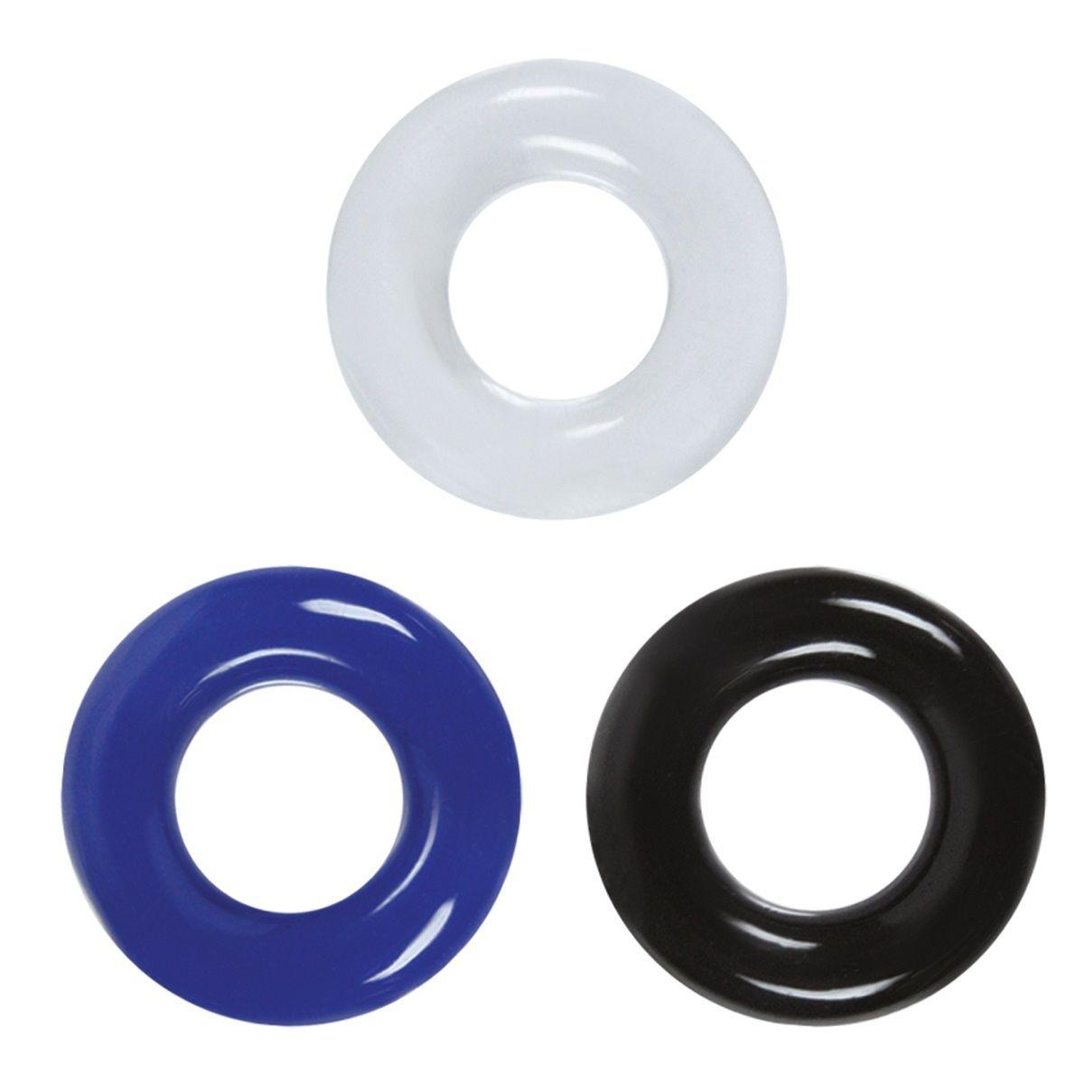 Набор разноцветных эрекционных колец Stamina Rings