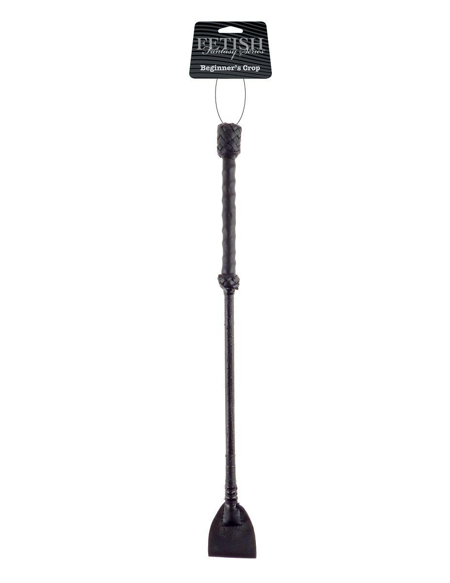 Чёрный стек-хлопушка Beginners Crop - 43,5 см. - фото 1150456