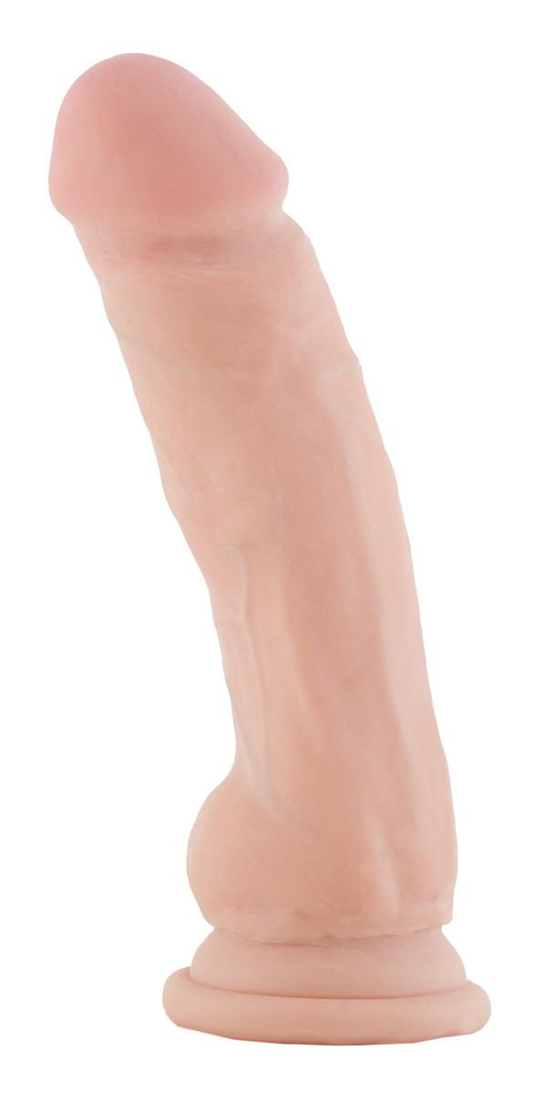 Фаллоимитатор телесного цвета на присоске - 17,5 см.
