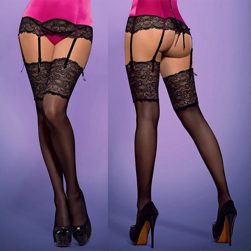 Чулочки с широким кружевом Roseberry Stockings - фото 139042
