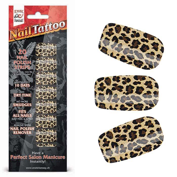 Набор лаковых полосок для ногтей Леопард Nail Foil - фото 14554