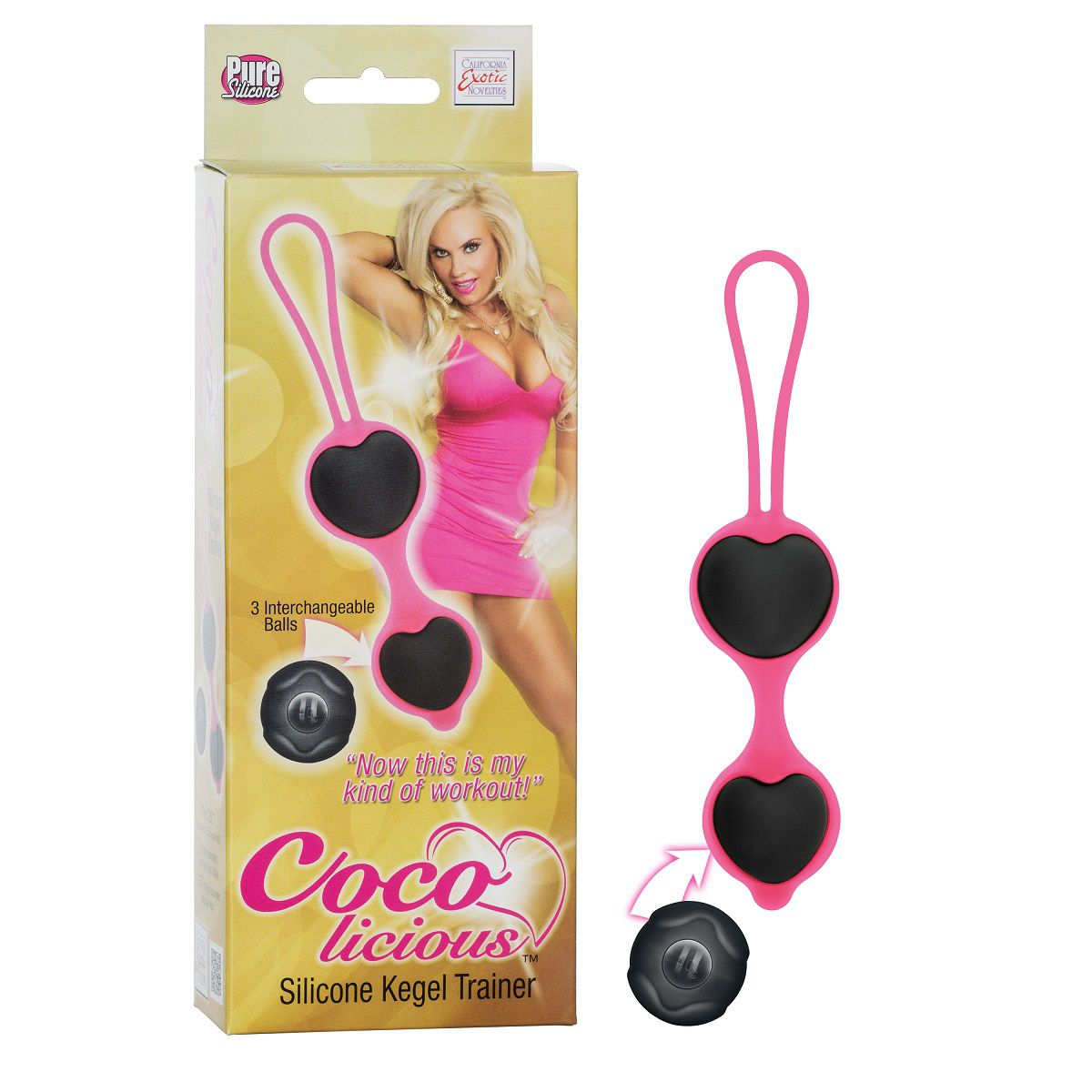 Чёрные вагинальные шарики из силикона Coco Licious Kegel Balls - фото 139512