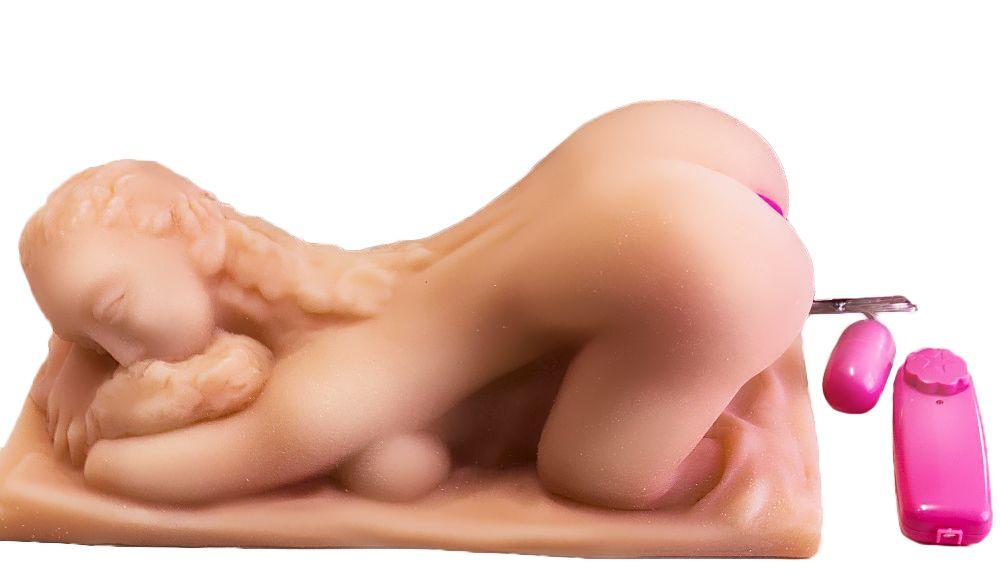 Вагина с вибрацией в виде женщины с пышной попкой - фото 1655069