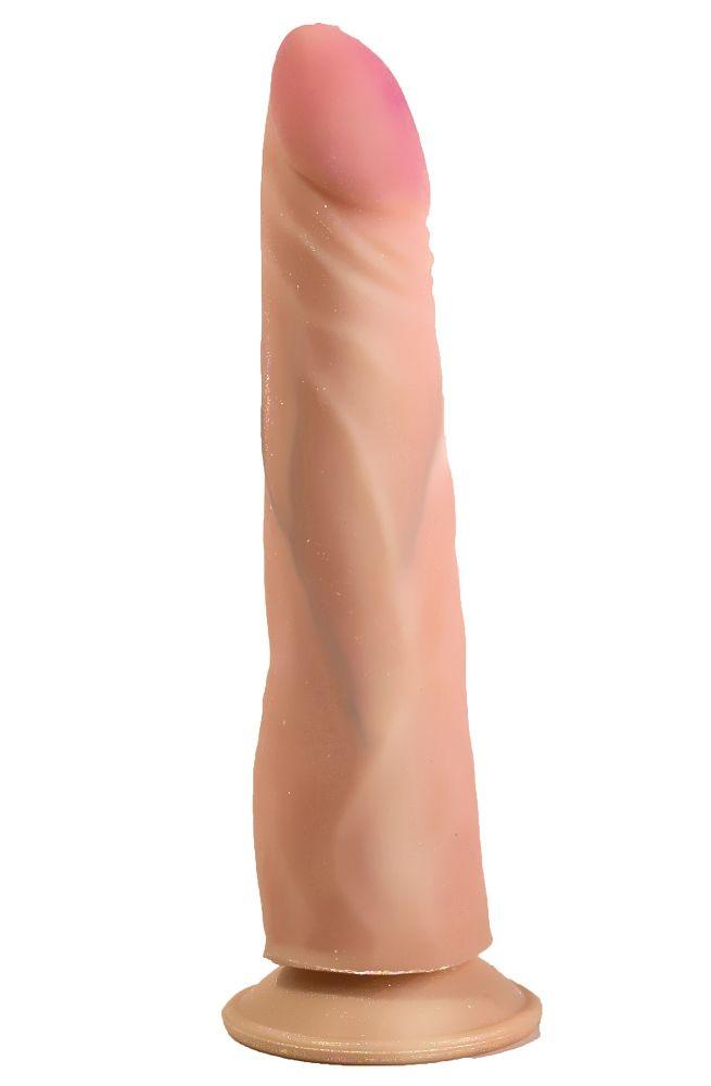 Фаллоимитатор на присоске из неоскин - 20 см. - фото 245648