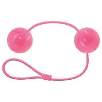Розовые вагинальные шарики с петелькой