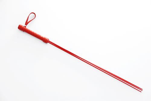 Красный стек с кожаной рукоятью - 62 см. - фото 140474