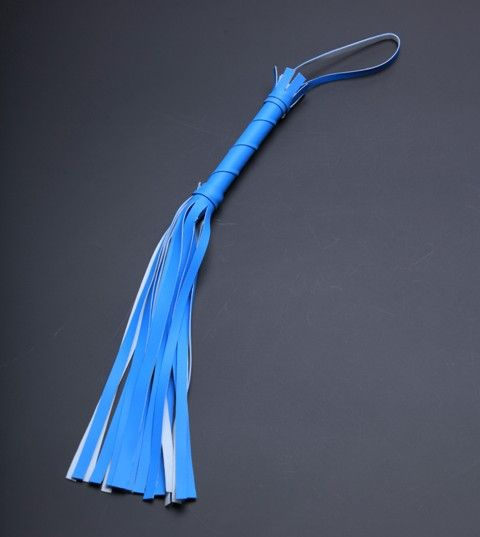 Голубая мини-плеть с 20 хвостами - 40 см. - фото 457121