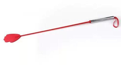 Красный стек с металлической хромированной  ручкой - 62 см. - фото 140554