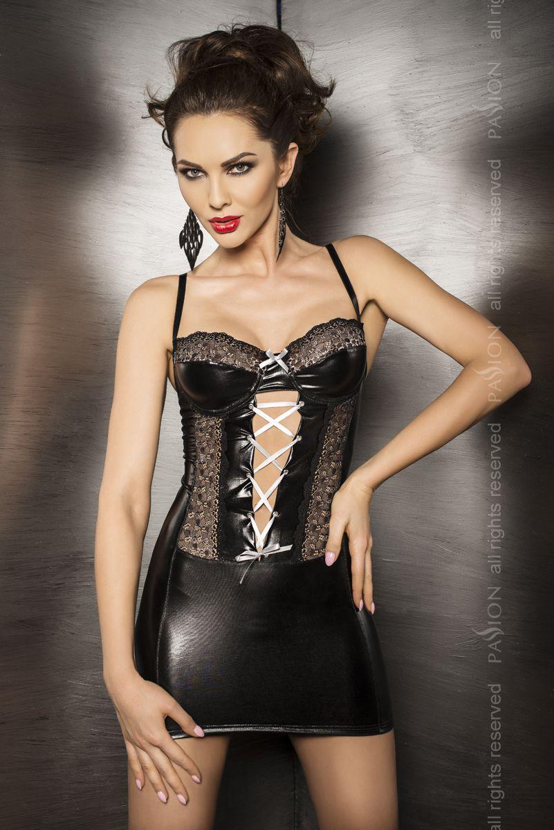 Платье с кружевными вставками и шнуровкой Marie - фото 246277