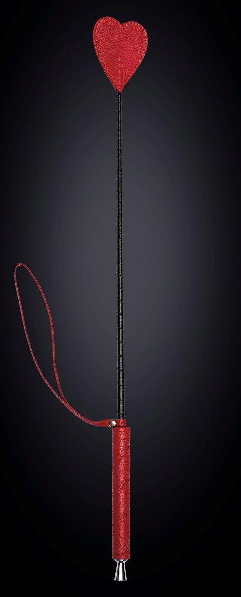 Стек с красным наконечником-сердечком - 70 см. - фото 140601