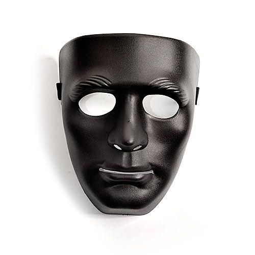 Чёрная маска из пластика - фото 140620