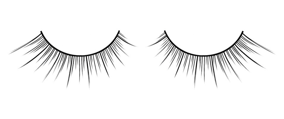Чёрные накладные ресницы с постепенным увеличением длины ресничек Deluxe - фото 532004