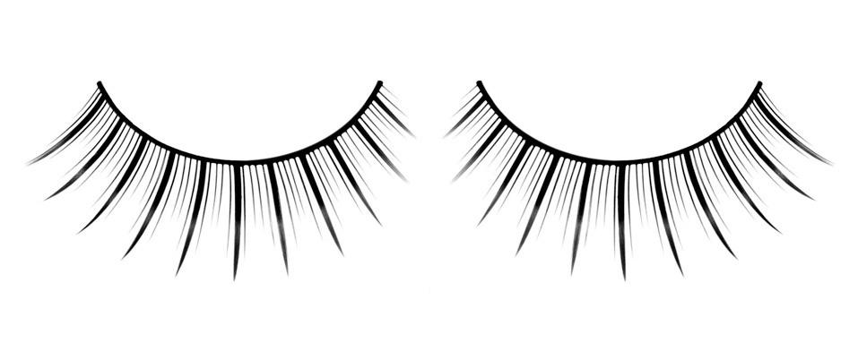Черные ресницы с удлиненными и короткими ресничками - фото 532022