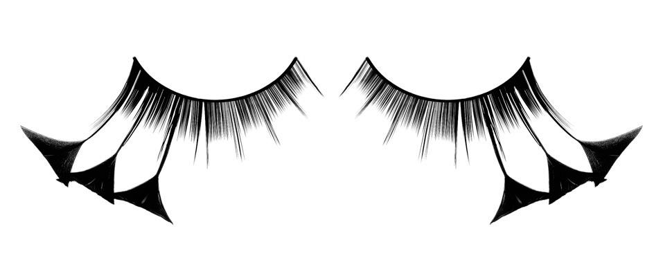 Чёрные ресницы-перья с кисточками - фото 532034