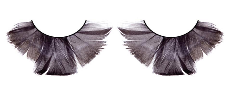 Чёрные ресницы из мягких перьев - фото 532056