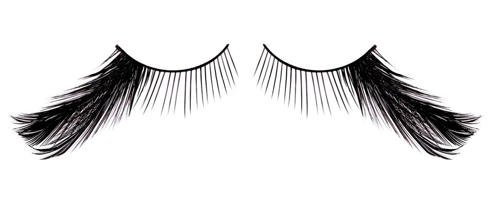 Черные асимметричные ресницы-перья - фото 563065